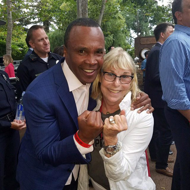 Louise and Sugar Ray Leonard