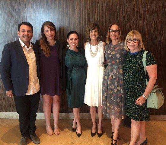 Michele Carlson CEO Teen Line in white dress