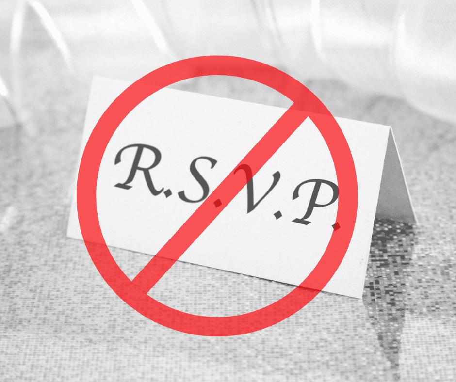 No RSVP